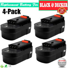 4Pack 18V VOLT NiCD Slide Battery for Black & Decker HPB18 HPB18-OPE 244760-00