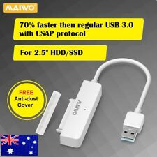 """USB 3.0 to SATA 2.5"""" Hard Drive HDD SSD Adapter Converter Cable 22Pin UASP white"""