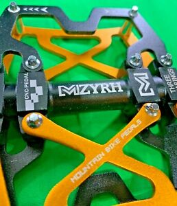 BICYCLE PEDAL MZ-Y06-3BEARINGS (BLACK/GOLD)