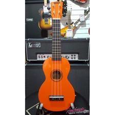Mahalo MR1 Rainbow Series Soprano Ukulele in Orange with Aquila Strings and Bag