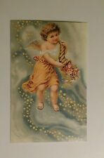 Reproduction Victorian Angels Cupids Valentine Flowers -  Postcard #6