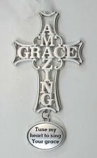 zzT Tune my heart to sing your amazing grace Faithful Cross Ornament ganz