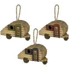 3 Mini Camper Trailers Wood Functional Country Inside Outside Birdhouses
