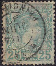 Monaco 1885 25c Prince Charles III sg 6 used