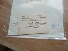 Ignace Paderewski Inscribed Autograph On Steinway Advertisement Card-Coa