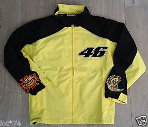 Valentino Rossi Yellow and Black Leisure Jacket. Size S.