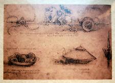 LEONARDO DA VINCI e le arti militari - Piccolo Lotto di sei stampe