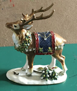 Reindeer Hidden Treasures Trinket Box