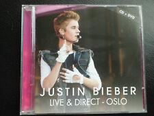JUSTIN  BIEBER   -  LIVE  &  DIRECT -  OSLO ,  CD / DVD   2012 ,  POP,  RARE
