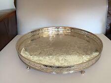 Straordinaria qualità molto grandi Argento Placcato Galleria circolare Vassoio su 6 FT (ca. 1.83 m)