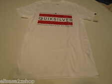 Men's Quiksilver T shirt NWT surf skate S Broadway MTO  WBB0 white Regular Fit
