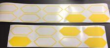18x Cartuning Autoaufkleber Design Waben 147x57mm matt gelb