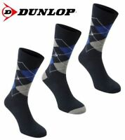 3 Pairs Dunlop Argyle Golf Socks Mens UK 7 - 11 A441-19