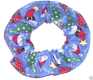 Hair Scrunchie Christmas Holiday Ties Ponytail Holders Scrunchies by Sherry New