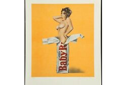 Mel Ramos. Baby Ruth. Lithograph. Signed and Numbered Limited Ed. 167/250