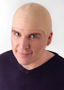Unisex Bald Head Skinhead Men Ladies Cap Fake Funny/Fancy Dress Accessory