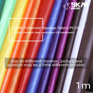1m Polyester Fabric Waterproof Lightweight Ripstop Ultra Thin UV Protection