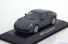 2015 Porsche 911 991 Carrera Coupé Graphite Bleu Métallique 1 43 Herpa WAP