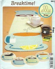 Kwik Sew 194 Breaktime Placemats and Runner   Craft Sewing Pattern