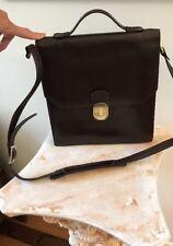 VTG 90s AQUARIUS BROWN Leather Messenger SADDLE Bag PORTFOLIO BUSINESS Crossbody