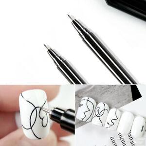 1Pc Nail Art Graffiti Pen Waterproof Drawing Painting Liner Brush DIY Lines
