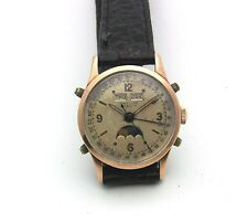 Vintage Baylor Rose Gold & Stainless Triple Date Moonphase Bumper Automatic 31mm