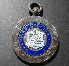 "UK medallion - Worthing Cycling Club 1937 ""Excelsior"" F. Tiller - W. Sussex 31mm"