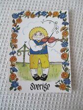 "A SWEET POSTCARD  "" SVERIGE "" HJARTLIGA HALSNINGAR, SIGNED ANN SOFIE ."