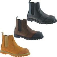Grafters 100% Leather Slip On Boots for Men
