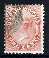 COLONY OFCANADA Queen Victoria 1859 1c. Carmine-Rose SG 30 VFU