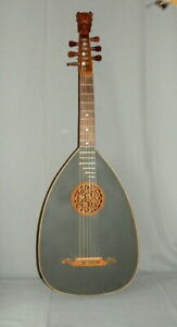 Alte Gitarrenlaute – Laute um 1900 - mit Löwenkopf  - restauriert ( L02 )