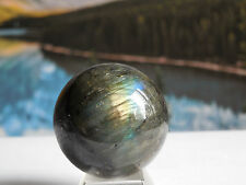 40mm LABRADORITE SPHERE (SPECTROLITE)105.33g:Madagascar Metaphysical: Reiki #30