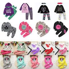 Toddler Kids Boys Girls Clothes Sweatshirt Tops + Pants Tracksuit Clothes Set