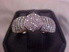 *ESTATE*161 PAVE SET DIAMOND ENGAGMENT RING 10K YELLOW GOLD sz7.25  *NO RESERVE*