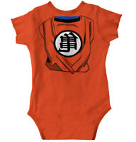 Goku Symbol Dragon Ball Saiyan Anime Cosplay  Newborn Infant Bodysuits For Boys