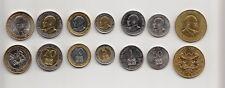 KENYA set of 7 coins 2015 (10+ 50 cents & 1+5+10+20+40 shillings) UNC