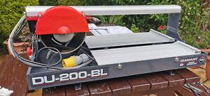 Rubi DU-200-BL UK Diamant Electric Tile Cutter 110v 200mm Blade Wet Tile Saw
