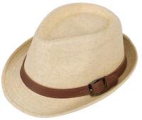 Women Men Summer Beach Fedora Straw Sun Hat