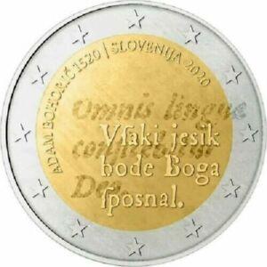1x 2 euro commémorative Slovénie 2020 - Adam Bohorič (neuve)