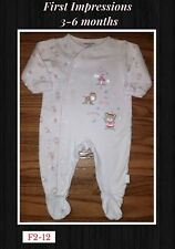 3-6 Month First Impressions Girls Princess Bear Footed Sleeper