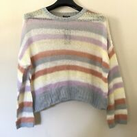 Wild Fable XXL Sweater Knit Thin Pullover Striped Crewneck Lightweight New