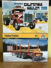 AMT 1/25 California Hauler Peterbilt 359 and Italeri 1/24 Timber Trailer