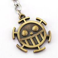 One Piece Porte Clés Pendentif Metal Logo Trafalgar Law Symbole Heart Pirates
