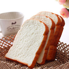 Cute Jumbo Squishy Toast Slice Artificial Bread Bag Strap Hand Pad Kid Toy FT