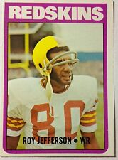 1972 Roy Jefferson Washington Redskins NFL Topps #142 Football Card 1000 Yard WR
