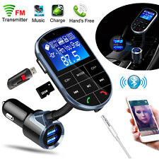 Bluetooth Wireless AUX Stereo Audio Receiver FM Transmitter Radio Adapter USB