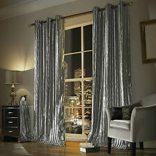 Kylie Minogue Iliana Eyelet Ring Top Fully Lined Pair of Curtains Polyester 90
