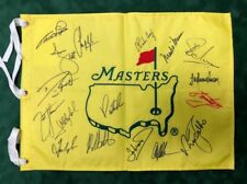 Un-Dated Masters Golf Flag Signed Autograph 17 Winners AFTAL COA COODY, OLAZABAL