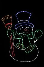 6 Foot Snowman LED metal wire frame outdoor yard display decoration