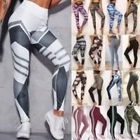 Women Yoga Pants Ladies Fitness Leggings Running Exercise Sports Wear Trousers